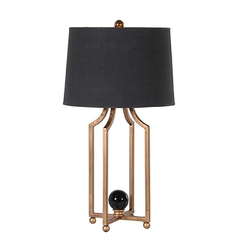 Gold metal leg table lamp with black shade mulberry moon gold metal leg table lamp with black shade mozeypictures Gallery