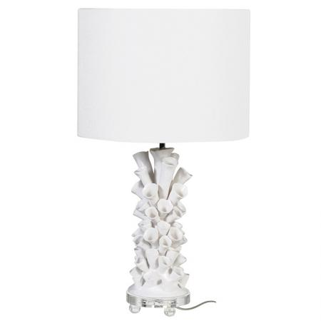 White Natural Tubular Ceramic Lamp
