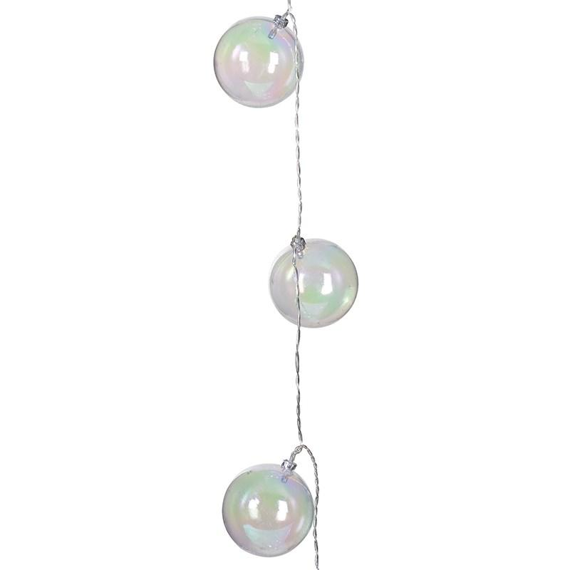 Christmas 10 Iridescent Ball Garland Lights