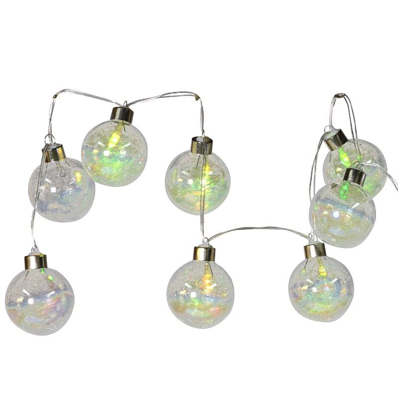 Christmas String of Multi Flashing Bauble Lights