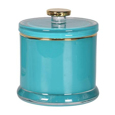 French Gold & Turquoise Jar