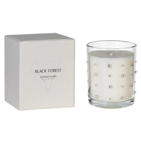 Small Boxed Diamante Candle