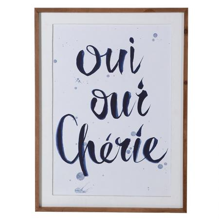 Framed 'Oui Oui Cherie' Picture