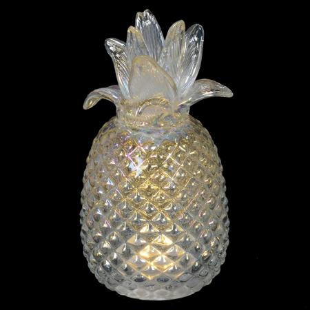 Small Light up Glass Pineapple Sculpture