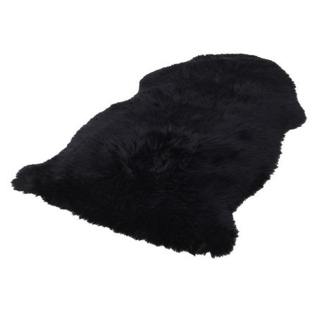 Black Soft Sheepskin Rug