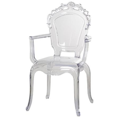Clear Acrylic Carver Dining Chair