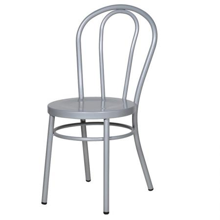 Grey Steel Dining Chair