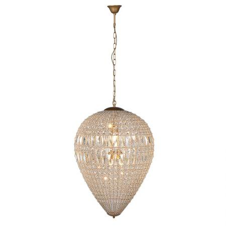 Large Dome Crystal Chandelier on Chain