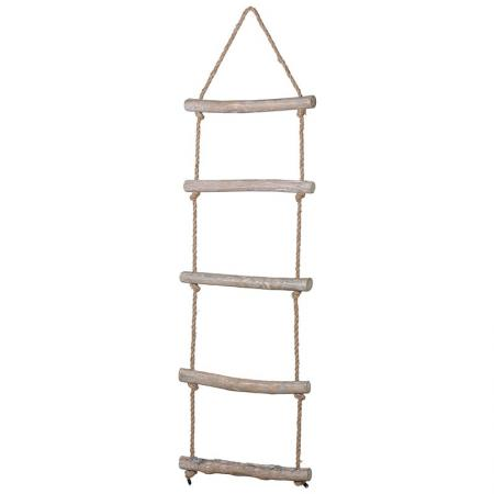 Extra Tall Wooden Hanging Rope Ladder