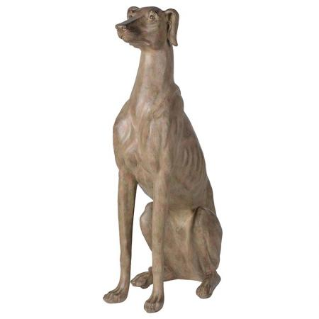 Extra Large Sitting Lurcher Sculpture