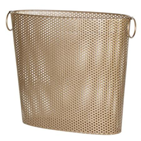 Contemporary Gold Wire Magazine Basket
