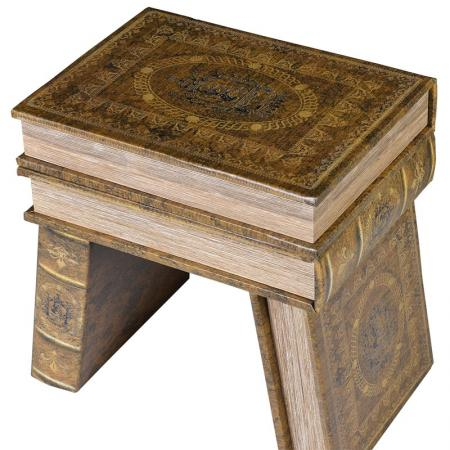 Antiqued Stack of Storage Book Boxes