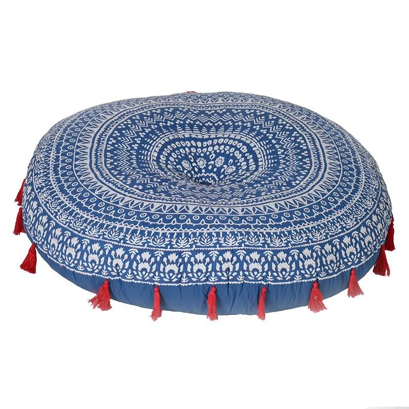 Large Blue Mandala Pattern Poufee/Floor Cushion