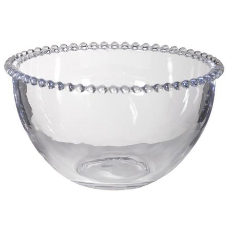 Glass Serving Bowl With Bobble Detailing