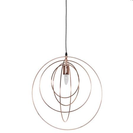 Metal Copper Rings Ceiling Pendant Light