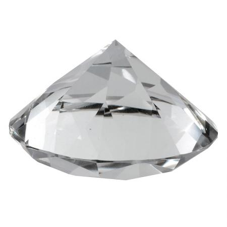 Medium Clear Diamond/Prism Paperweight Sculpture
