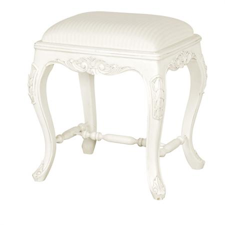 french shabby chic upholstered chateau foot stool. Black Bedroom Furniture Sets. Home Design Ideas
