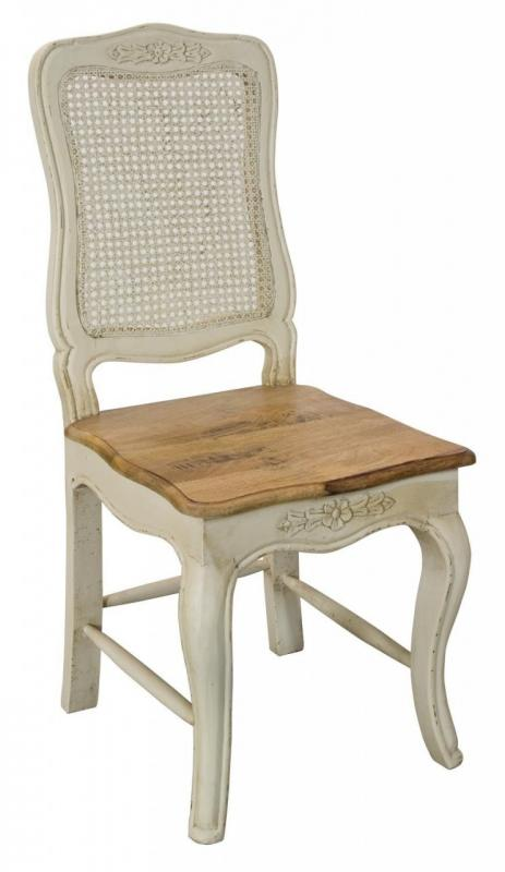 Set Of 2 French Ornate Rattan Dining Room Chairs