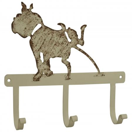 Comical Cream Metal Dog Coat Hooks