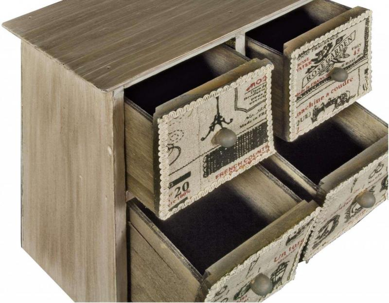 wooden mini drawers vintage sewing box crafts jewellery. Black Bedroom Furniture Sets. Home Design Ideas