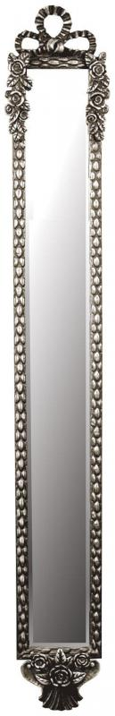 Narrow Wall Mirror silver ornate rose narrow wall mirror | mulberry moon