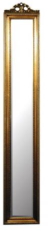 Antique Gold Bow Slimline Wall Mirror