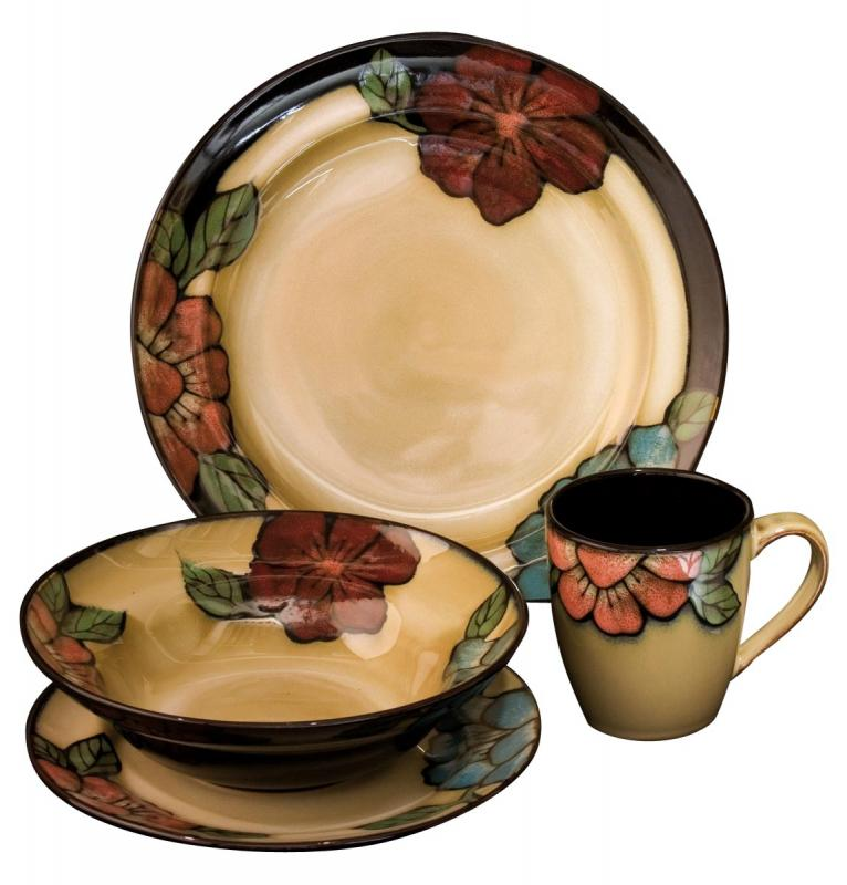 Floral Crockery Country Style 16 Piece Dinner Service
