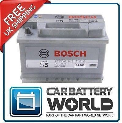 bosch s5008 car battery type 096 5 year guarantee ebay. Black Bedroom Furniture Sets. Home Design Ideas