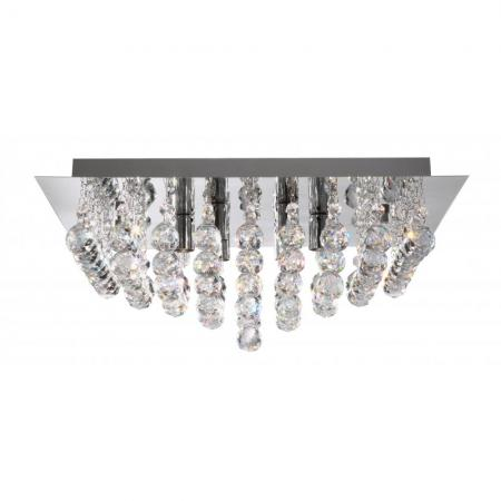 Semi Flush Chrome and Crystal Ceiling Light