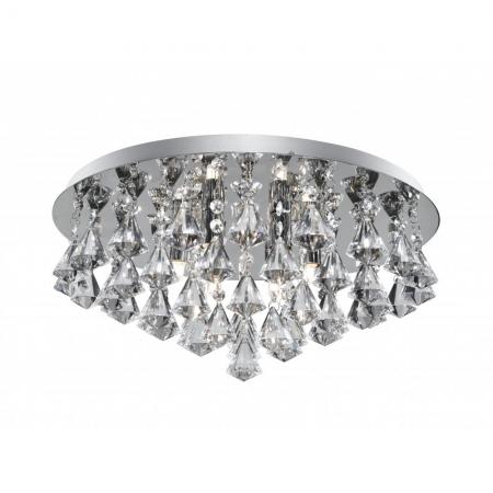 Hanna Chrome Flush Light Fitting