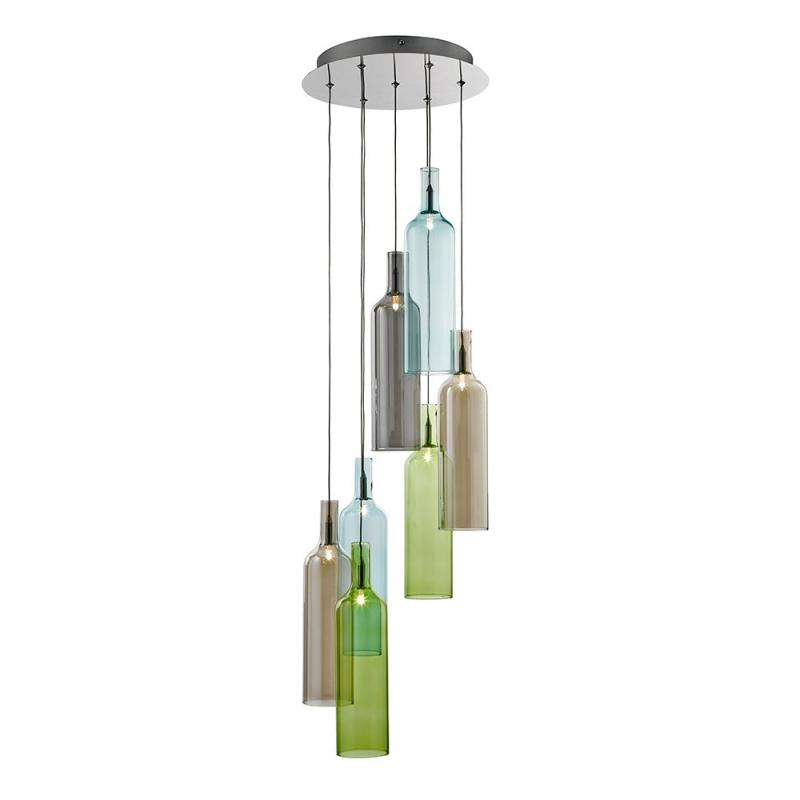 Multi Glass Bottle Pendant Light