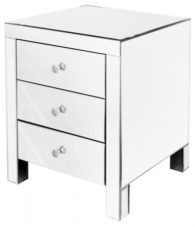 Three Drawer Mirrored Cabinet