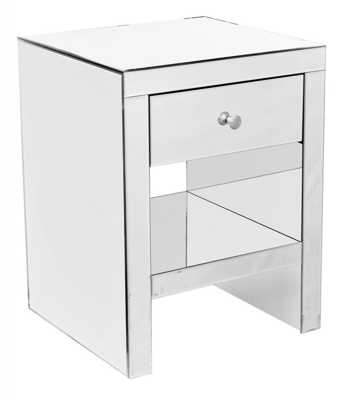 Mirrored One Drawer Unit