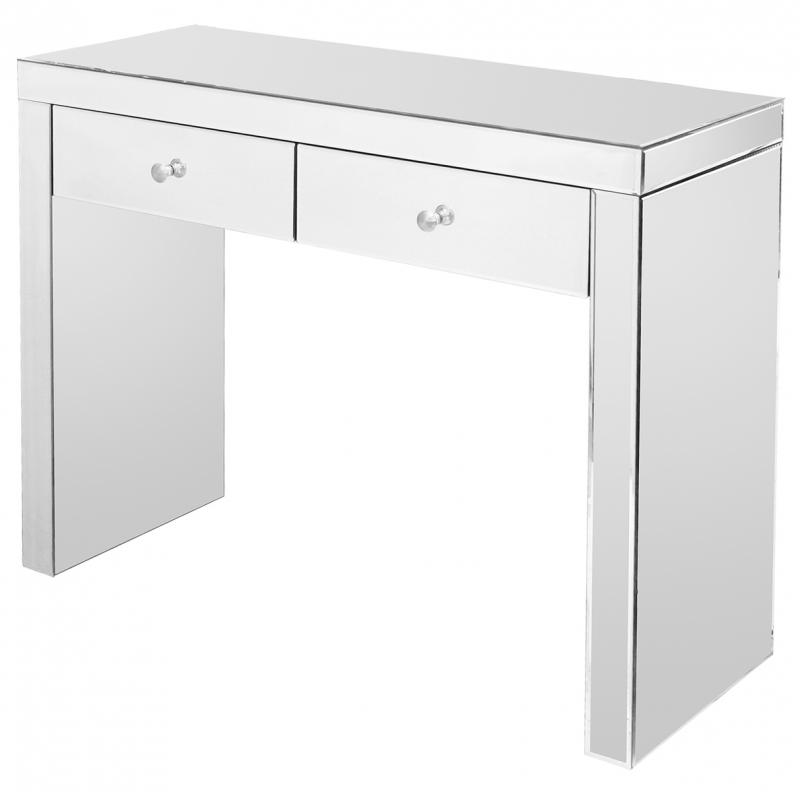 Mirrored Two Drawer Console