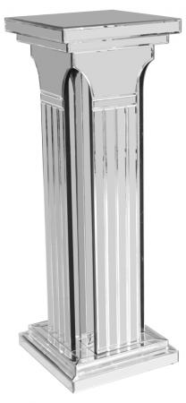 Tall Mirrored Column Pedestal