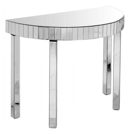 Mirrored Semi Circle Console
