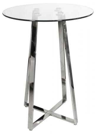Glass Top Poseur Table