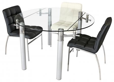 Clear Glass Extending Dining Table
