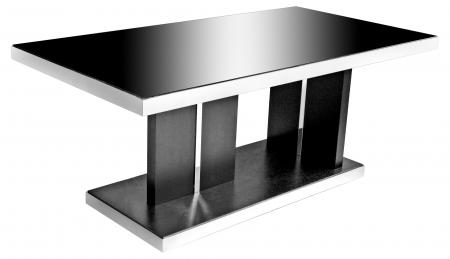 Twilight Black Glass Dining Table
