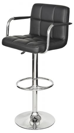 Coco Bar Stool with Arms (Black)