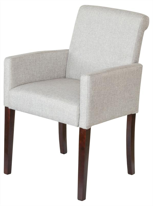 Grey Linen Tub Chair
