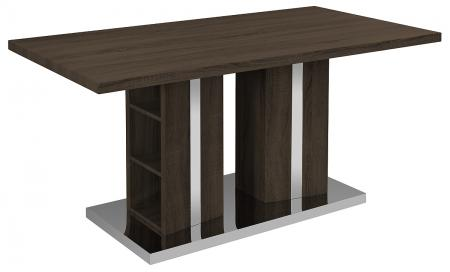 Dark Brown Veneer Dining Table