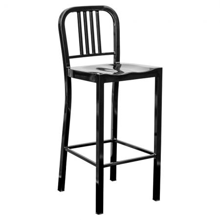 Black Metal Bar Chair