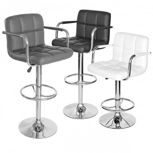 Coco Bar Stool with Arms Grey