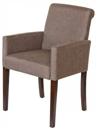 Brown Linen Tub Chair