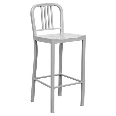 Silver Metal Bar Chair