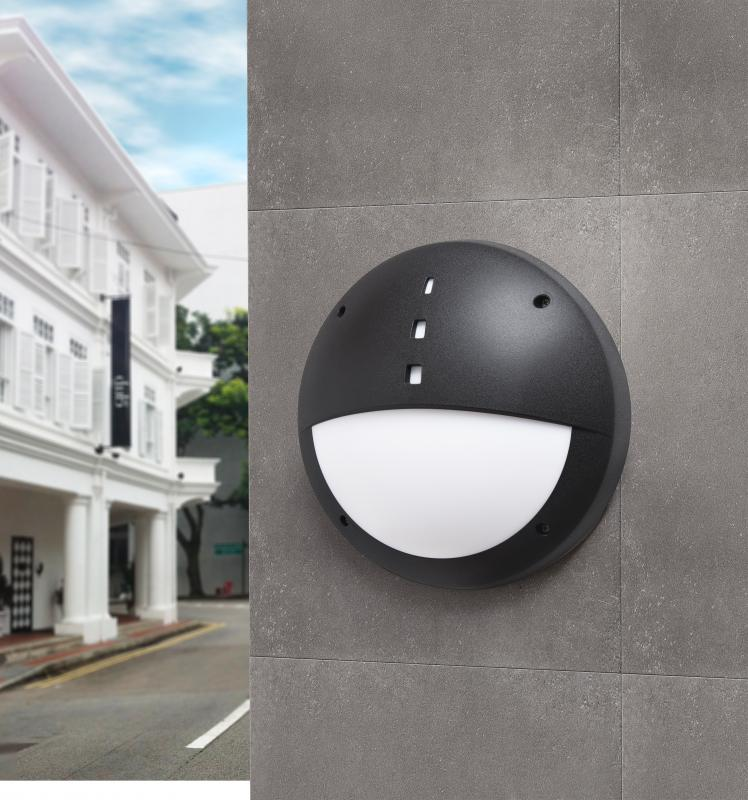 Gelmi led bulkhead outdoor light black lavish home gelmi led bulkhead outdoor light black mozeypictures Images