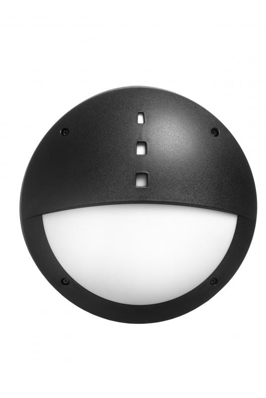 Gelmi LED Bulkhead Outdoor Light With Sensor (Black)