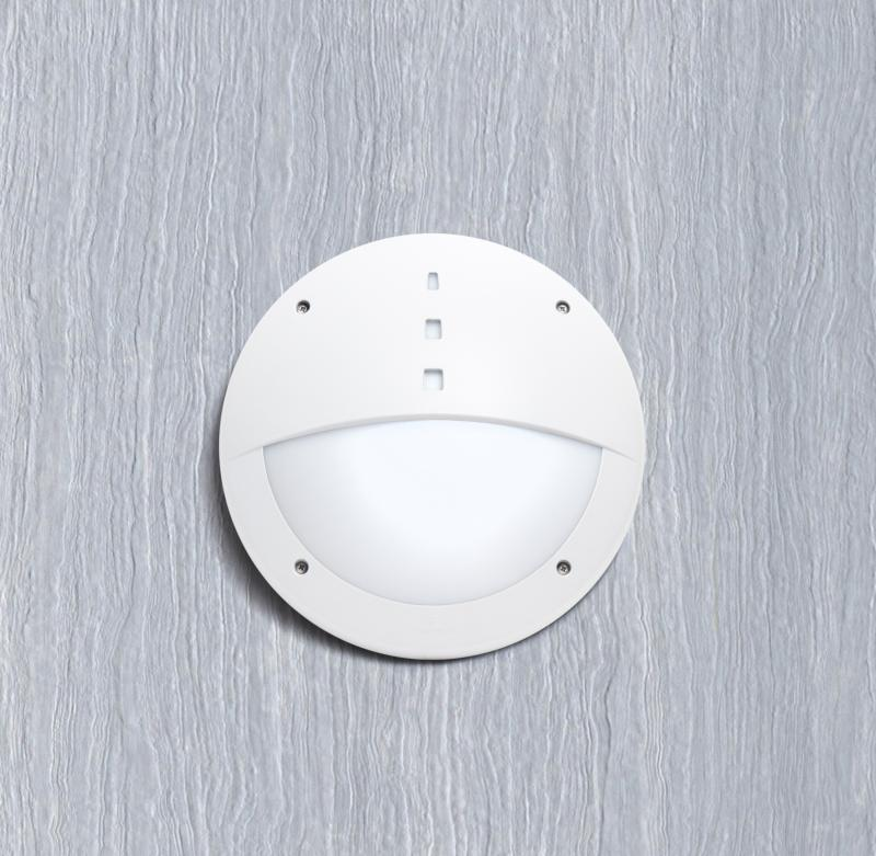 Gelmi LED Bulkhead Outdoor Light With Sensor (White)