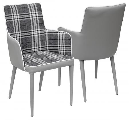 Grey Check Chair